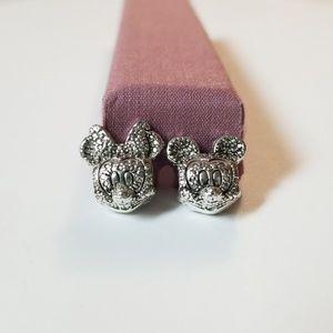 Jewelry - 🖤 ❤️ Mickey Minnie Sparkling Pave Charms ❤️ 🖤